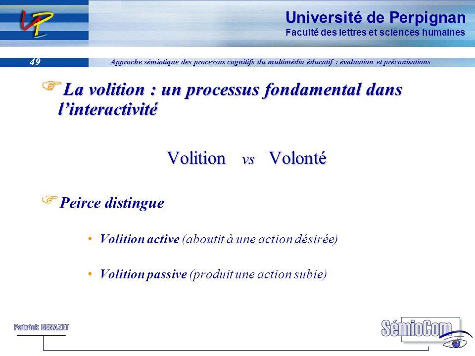 Université de Perpignan Faculté des lettres et sciences humaines 49 Approche sémiotique des processus cognitifs du multimédia éducatif : évaluation et
