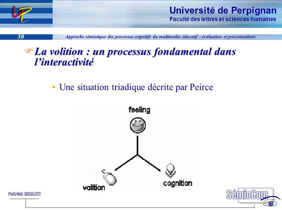 Université de Perpignan Faculté des lettres et sciences humaines 50 Approche sémiotique des processus cognitifs du multimédia éducatif : évaluation et