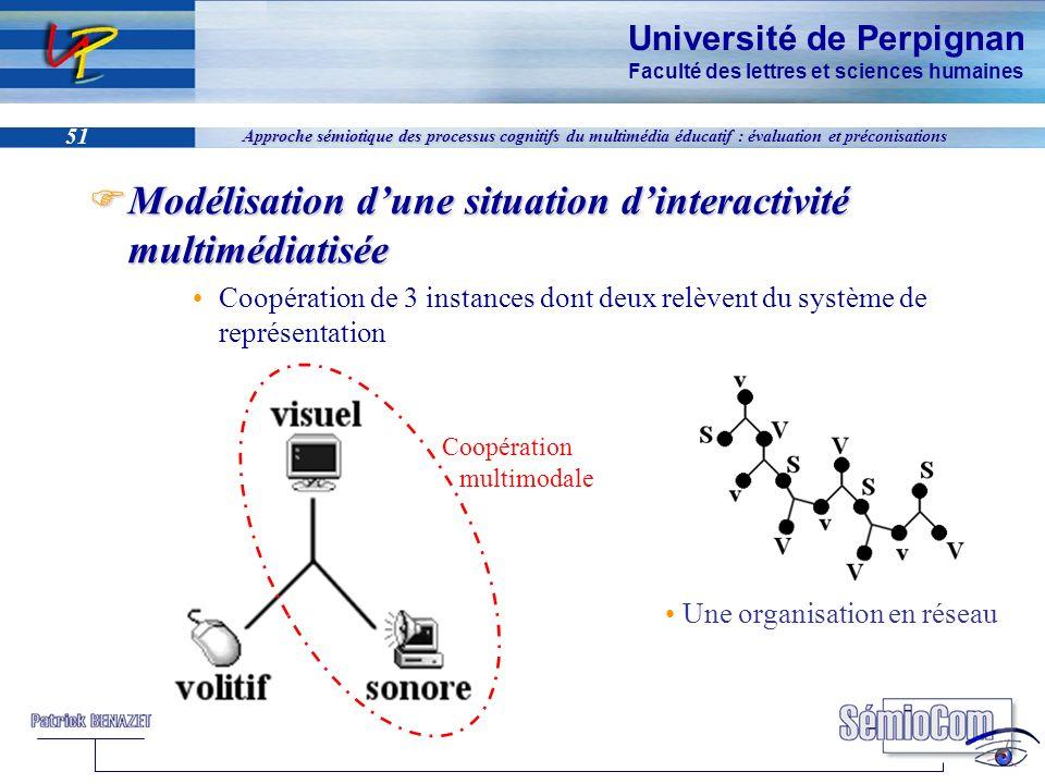 Université de Perpignan Faculté des lettres et sciences humaines 51 Approche sémiotique des processus cognitifs du multimédia éducatif : évaluation et