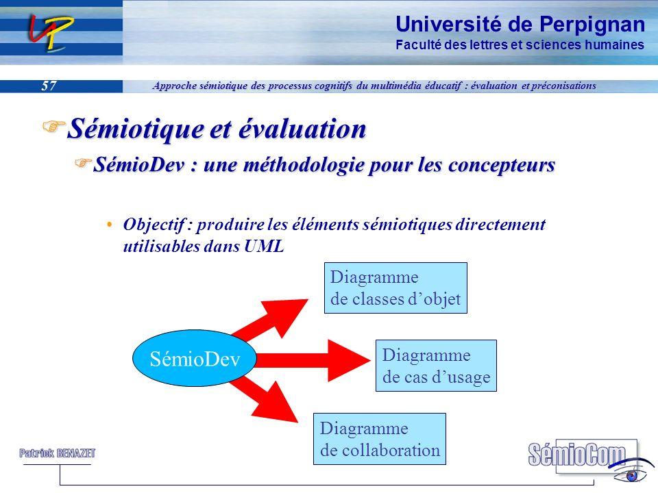 Université de Perpignan Faculté des lettres et sciences humaines 57 Approche sémiotique des processus cognitifs du multimédia éducatif : évaluation et