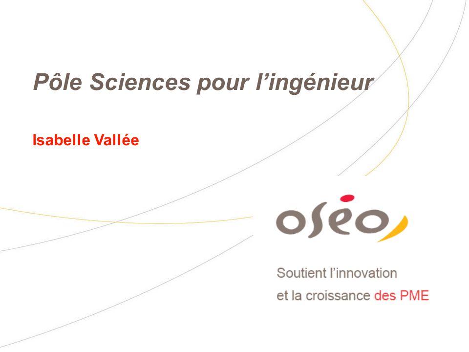 Pôle Sciences pour lingénieur Isabelle Vallée