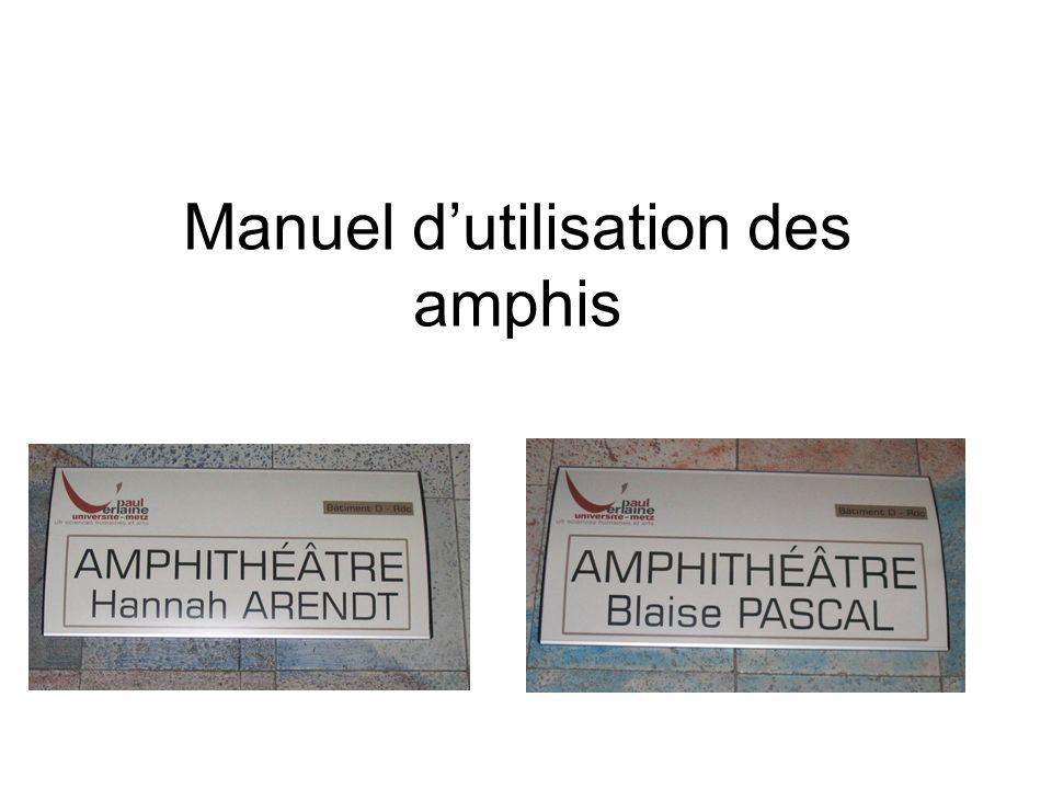 Manuel dutilisation des amphis