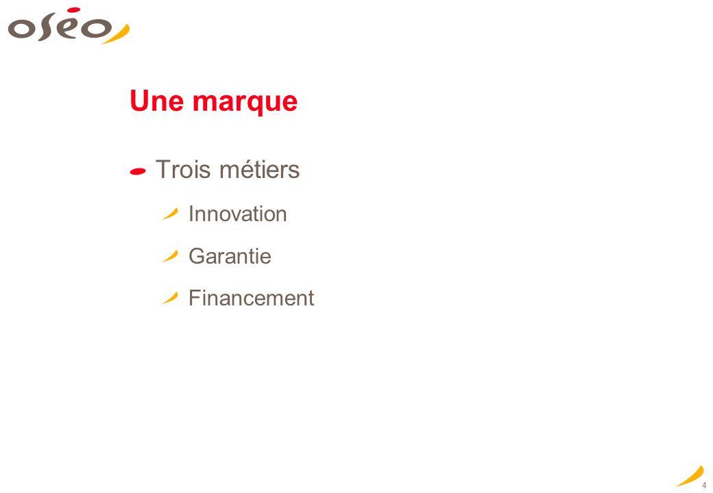 4 Une marque Trois métiers Innovation Garantie Financement