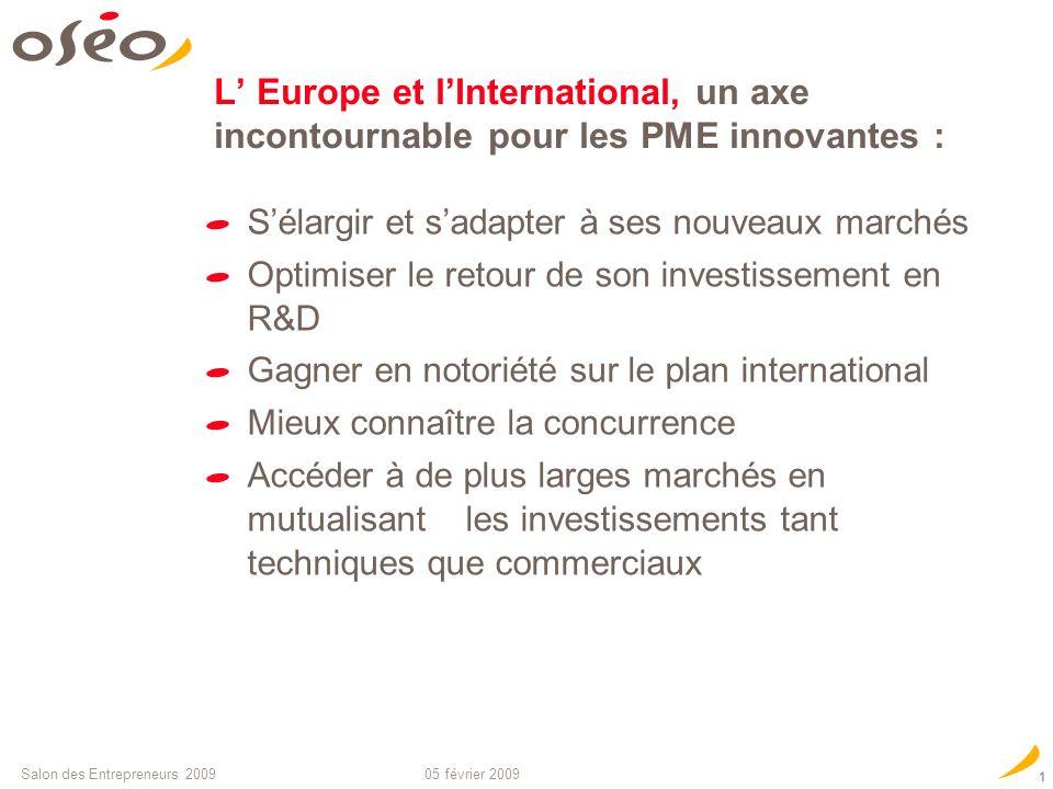 soutient linnovation et la croissance des PME Financer et accompagner les PME à l international : les acteurs cl é s PME, Europe et International Simo
