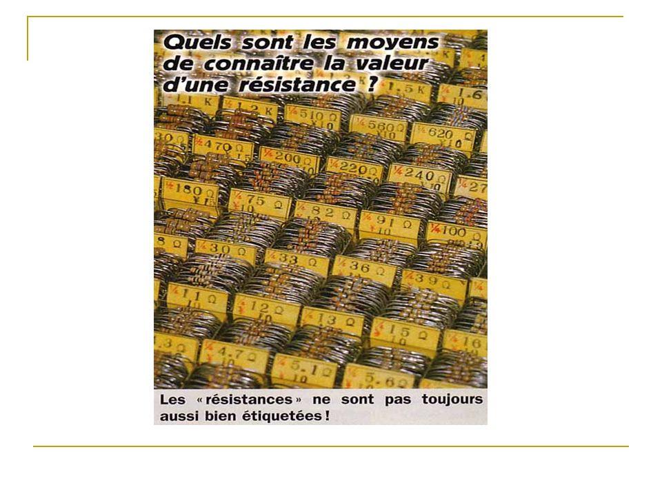 U (V) I (A) Caractéristique dune résistance de 100 Ohms.