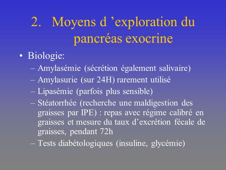 Evolution: –Favorable le plus souvent –Défavorable plus rarement (surtout si nécrose) Infection +++ (à redouter si T° ré ) Nécrose Pseudo-kyste pancréatique Pancréatite chronique si PA à répétition (OH) Pathologies pulmonaires (SDRA) Phlébites, embolie pulmonaire (HBPM)