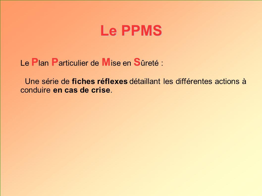 Élaborer le P.P.M.S.
