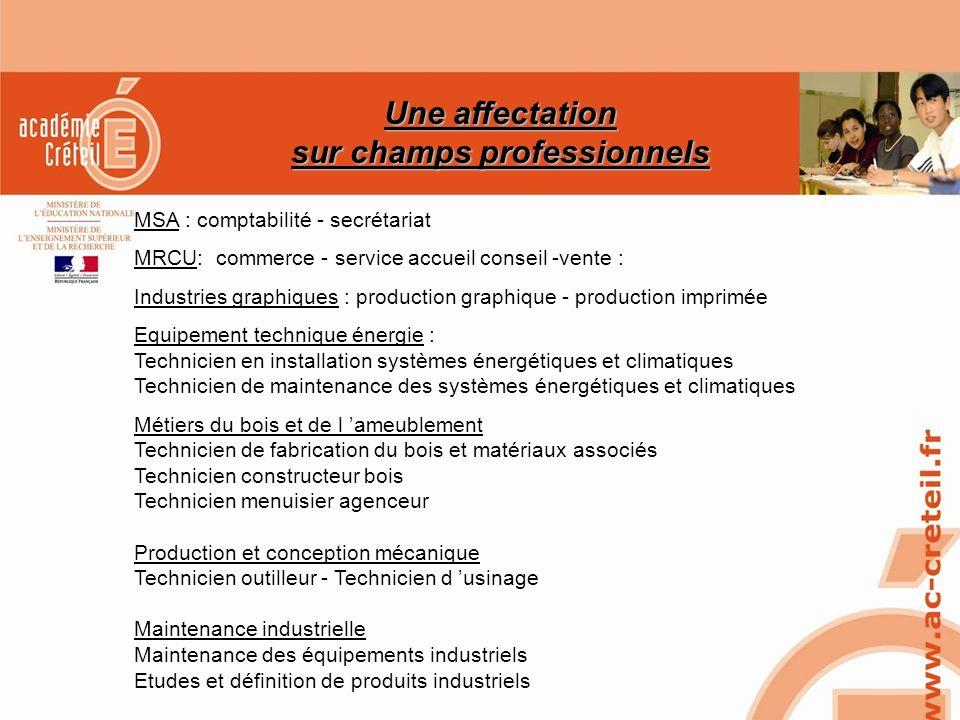 SAIO/MG-PL REUNION 15 MARS 2010 MSA : comptabilité - secrétariat MRCU: commerce - service accueil conseil -vente : Industries graphiques : production