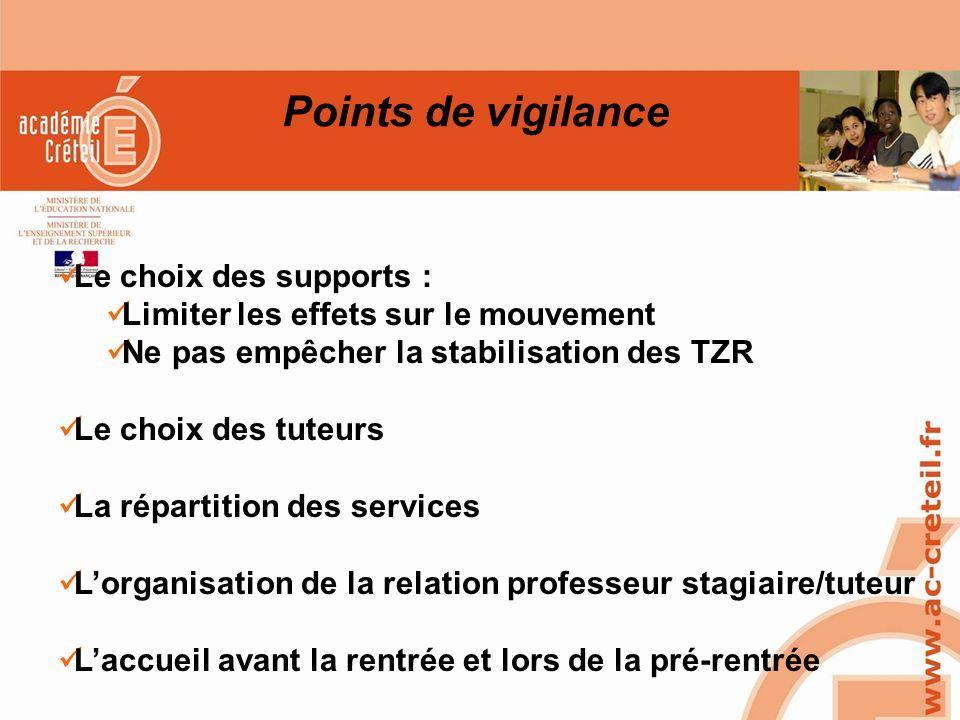 SAIO/MG-PL REUNION 15 MARS 2010 Points de vigilance Le choix des supports : Limiter les effets sur le mouvement Ne pas empêcher la stabilisation des T