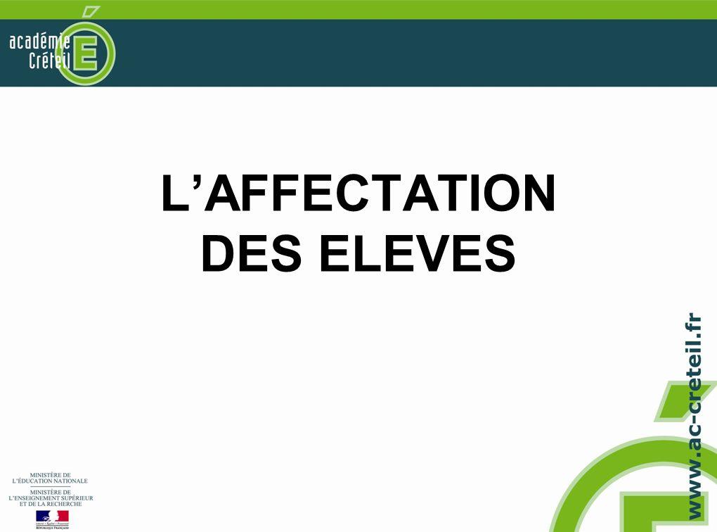 LAFFECTATION DES ELEVES