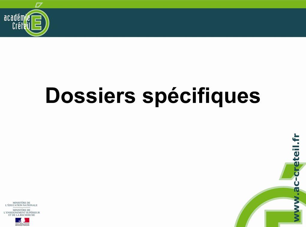 Dossiers spécifiques