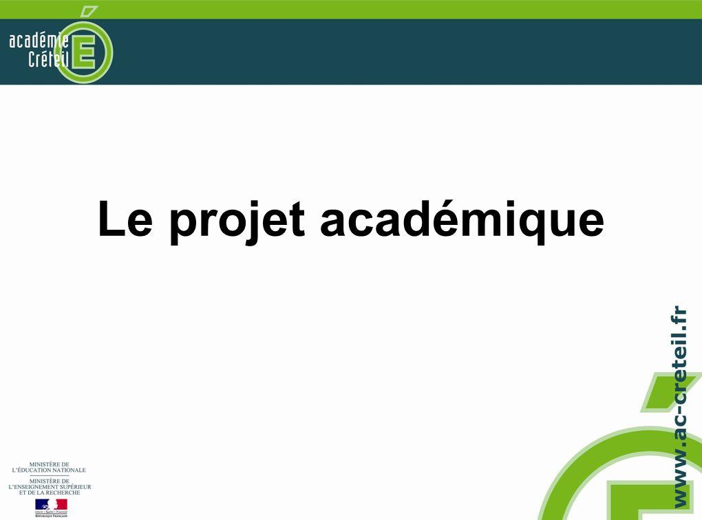 Le projet académique
