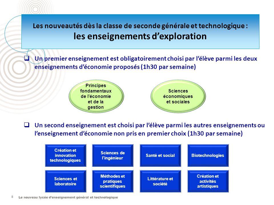 Le nouveau lycée denseignement général et technologique 8 Santé et social Création et innovation technologiques Sciences et laboratoire Sciences de li