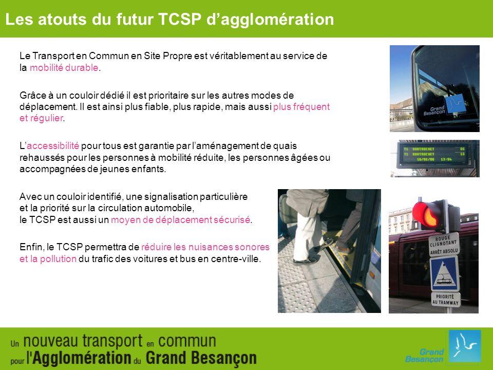 Le Transport en Commun en Site Propre est véritablement au service de la mobilité durable. Grâce à un couloir dédié il est prioritaire sur les autres
