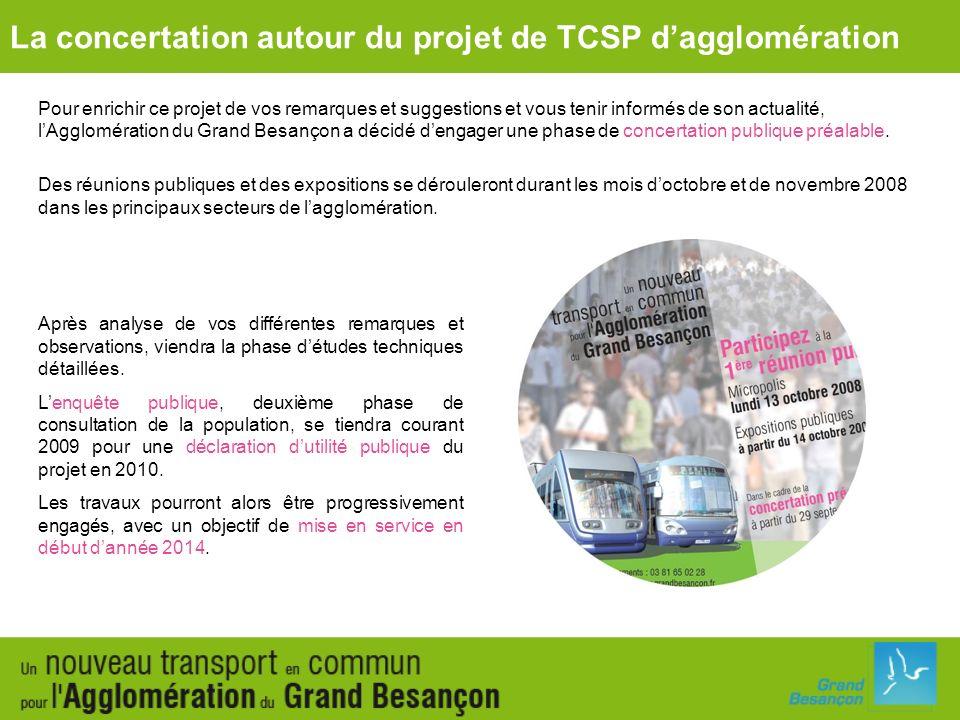Pour enrichir ce projet de vos remarques et suggestions et vous tenir informés de son actualité, lAgglomération du Grand Besançon a décidé dengager un