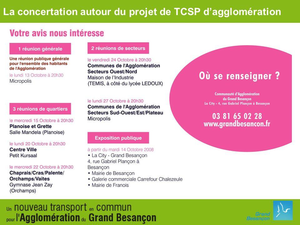 La concertation autour du projet de TCSP dagglomération
