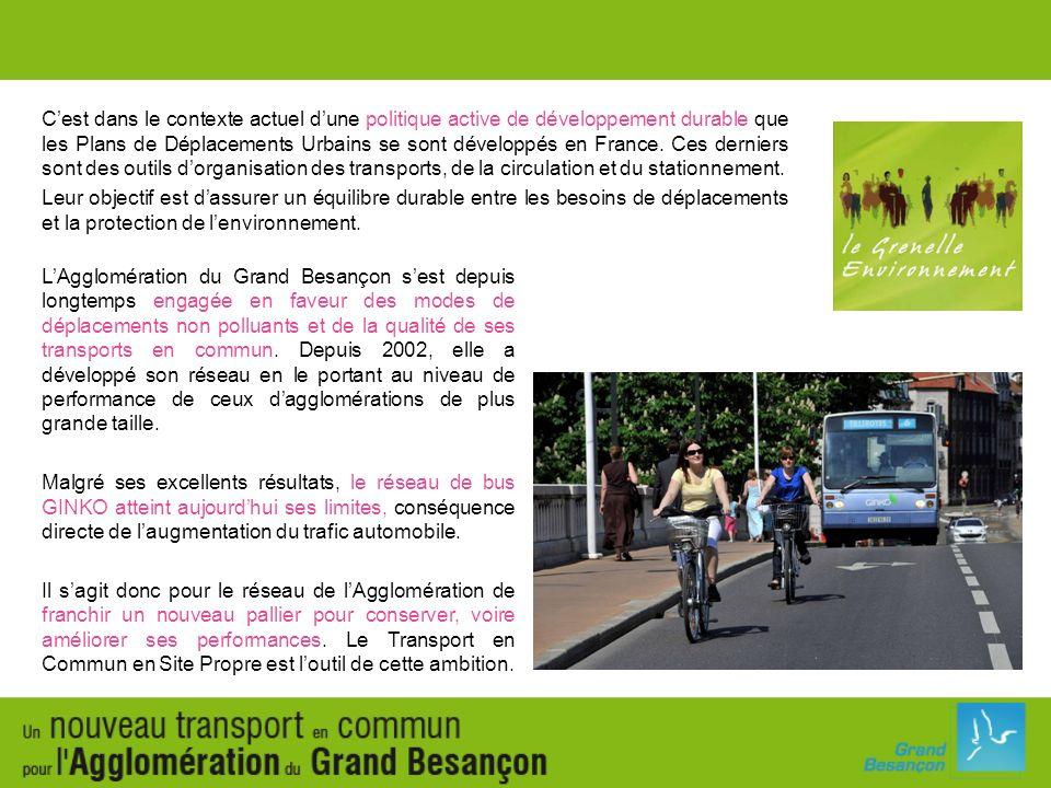 Le Transport en Commun en Site Propre est véritablement au service de la mobilité durable.