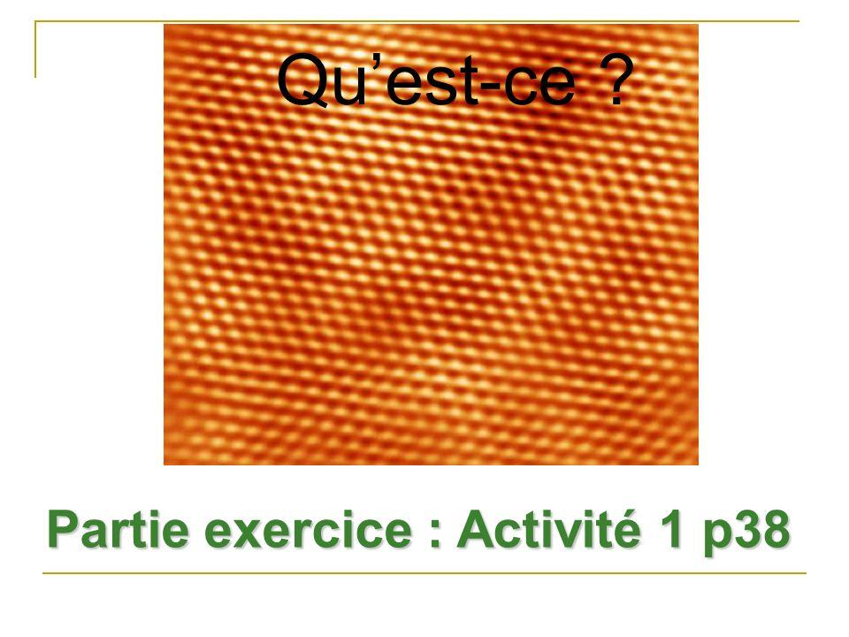 Partie exercice : Activité 1 p38