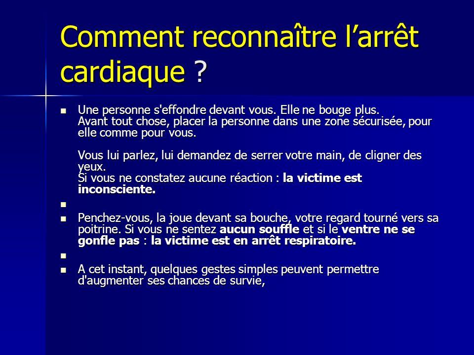 Comment reconnaître larrêt cardiaque .Une personne s effondre devant vous.
