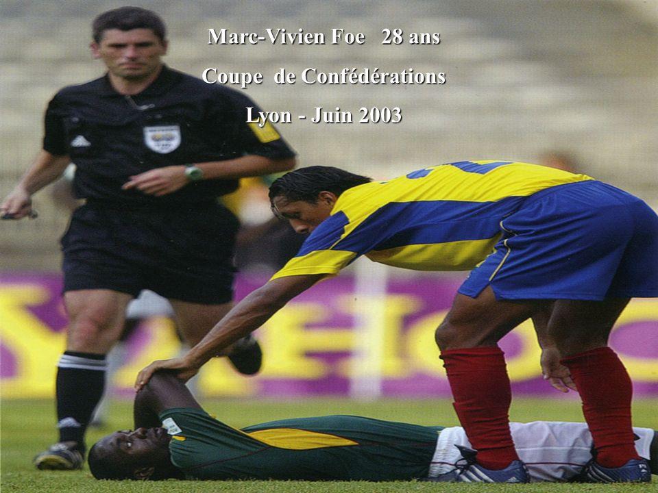 Marc-Vivien Foe 28 ans Coupe de Confédérations Lyon - Juin 2003