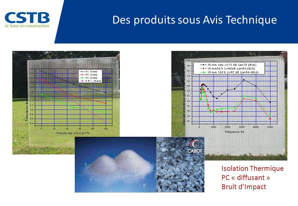 Des produits sous Avis Technique Isolation Thermique PC « diffusant » Bruit dImpact