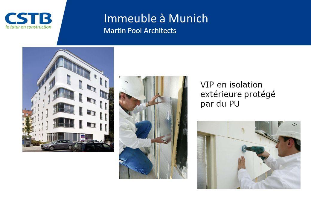 Immeuble à Munich Martin Pool Architects VIP en isolation extérieure protégé par du PU