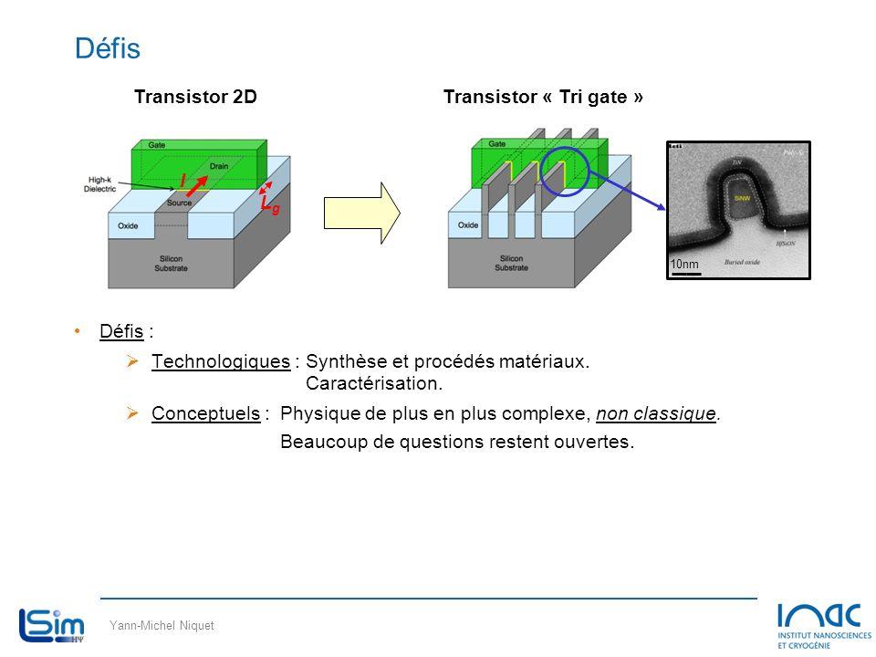 Yann-Michel Niquet Défis Défis : Technologiques :Synthèse et procédés matériaux. Caractérisation. Conceptuels :Physique de plus en plus complexe, non
