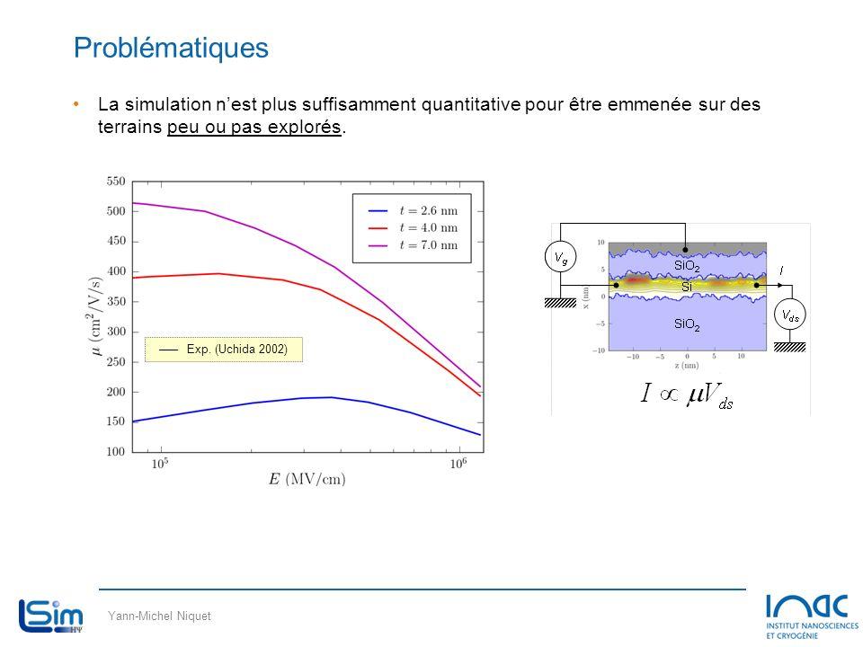 Yann-Michel Niquet Problématiques La simulation nest plus suffisamment quantitative pour être emmenée sur des terrains peu ou pas explorés. –––Exp. (U