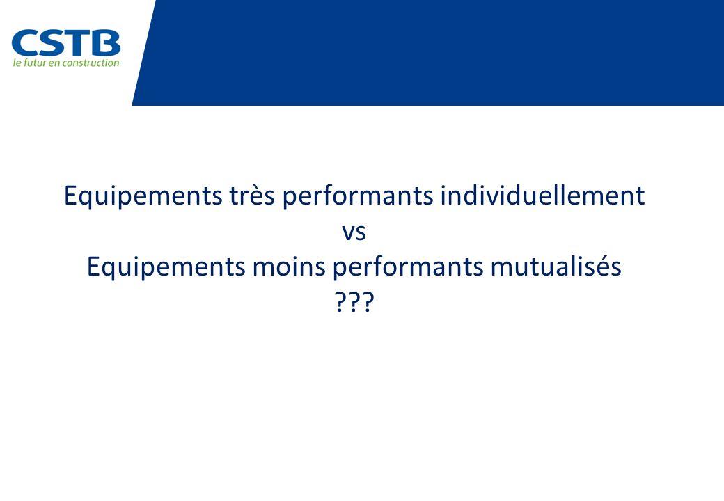 Equipements très performants individuellement vs Equipements moins performants mutualisés ???