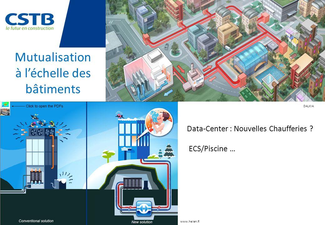 Mutualisation à léchelle des bâtiments www.helen.fi Data-Center : Nouvelles Chaufferies ? ECS/Piscine … DALKIA