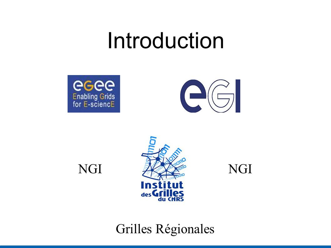 Introduction Grilles Régionales NGI