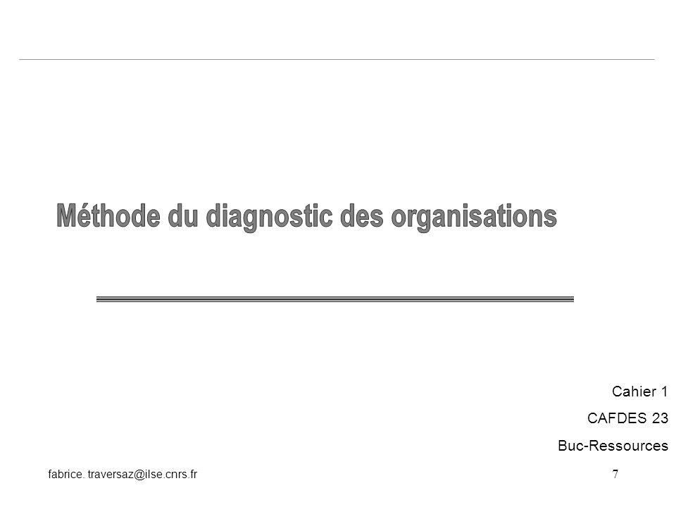 7 fabrice. traversaz@ilse.cnrs.fr Cahier 1 CAFDES 23 Buc-Ressources
