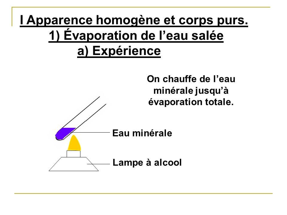 b) Observation x x x x x x x x x x x x Dépôt blanc Il reste un dépôt blanc au fond du tube.