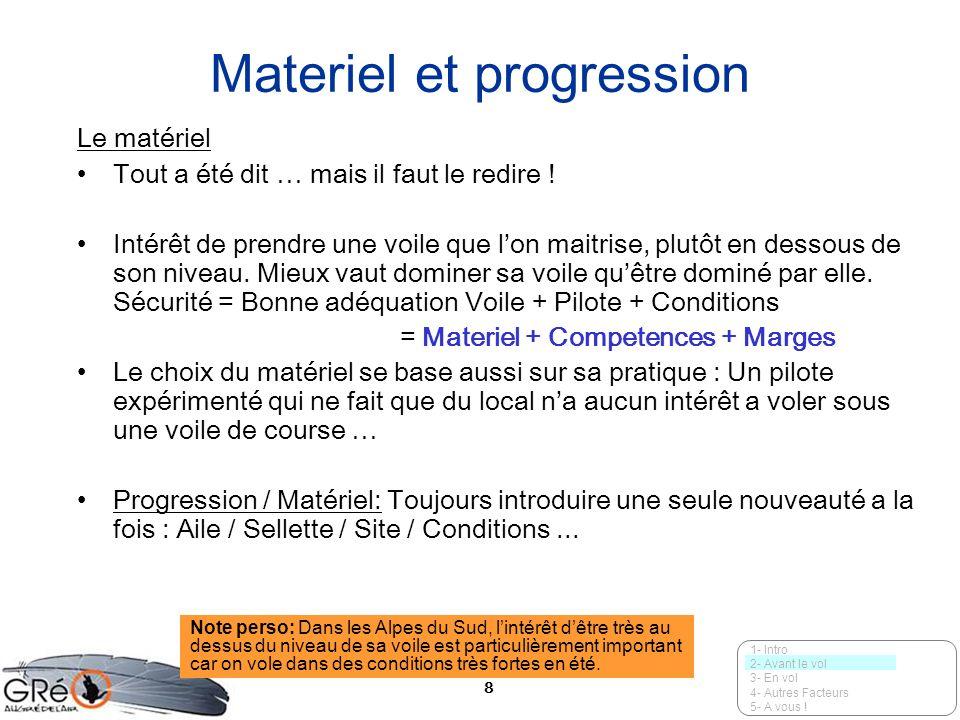 9 La progression La aussi tout a été dit … intérêt dune progression … progressive.