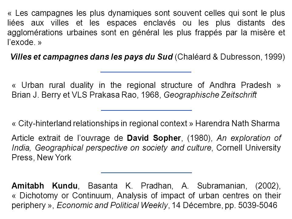 « Les campagnes les plus dynamiques sont souvent celles qui sont le plus liées aux villes et les espaces enclavés ou les plus distants des agglomérati