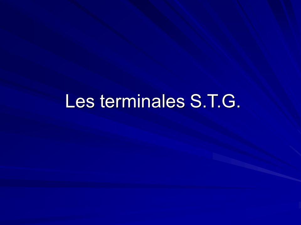 Les terminales S.T.G.