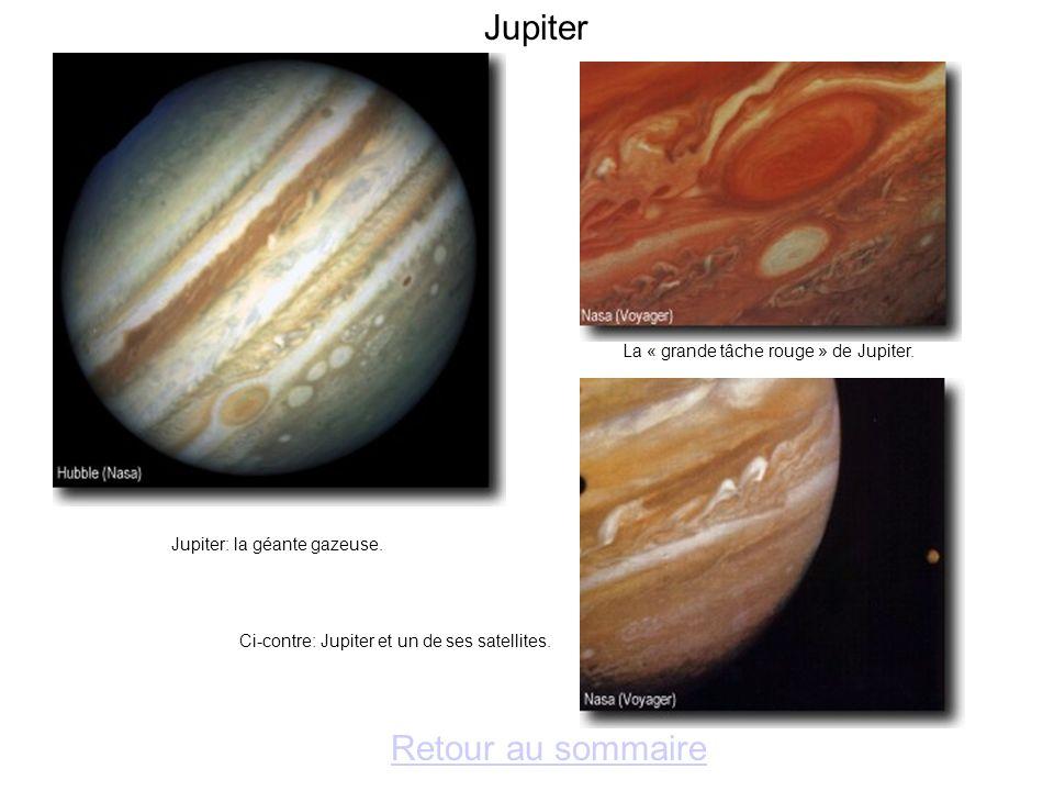 Saturne Retour au sommaire Saturne et deux de ses satellites.