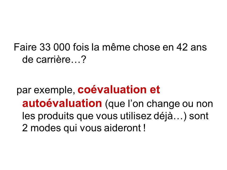 Co évaluation… autoévaluation… … dans les 2 extraits de la grille de SVT qui suit… …lequel est selon vous le plus adapté .