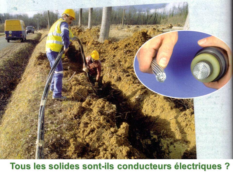I : Tous les solides conduisent-ils le courant électrique .