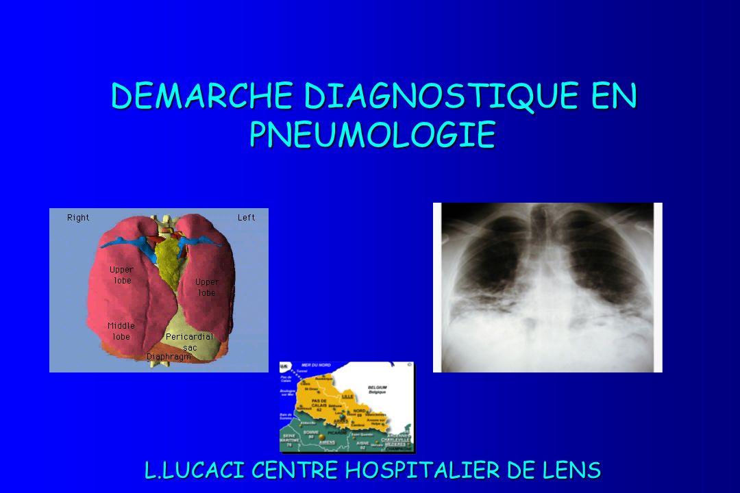 DEMARCHE DIAGNOSTIQUE EN PNEUMOLOGIE L.LUCACI CENTRE HOSPITALIER DE LENS