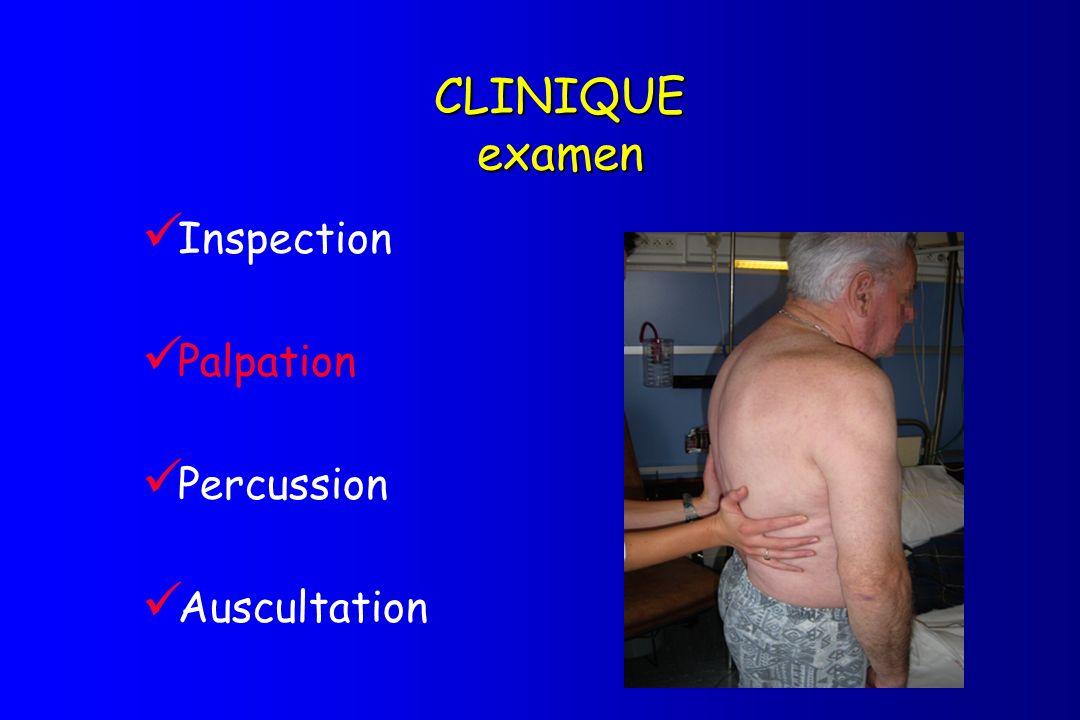 CLINIQUE examen Inspection Palpation Percussion Auscultation
