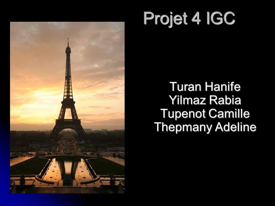 Projet 4 IGC Turan Hanife Yilmaz Rabia Tupenot Camille Thepmany Adeline