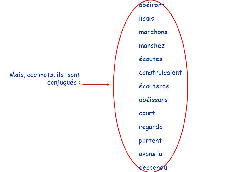 Souligne les verbes à linfinitif et entoure les verbes conjugués.
