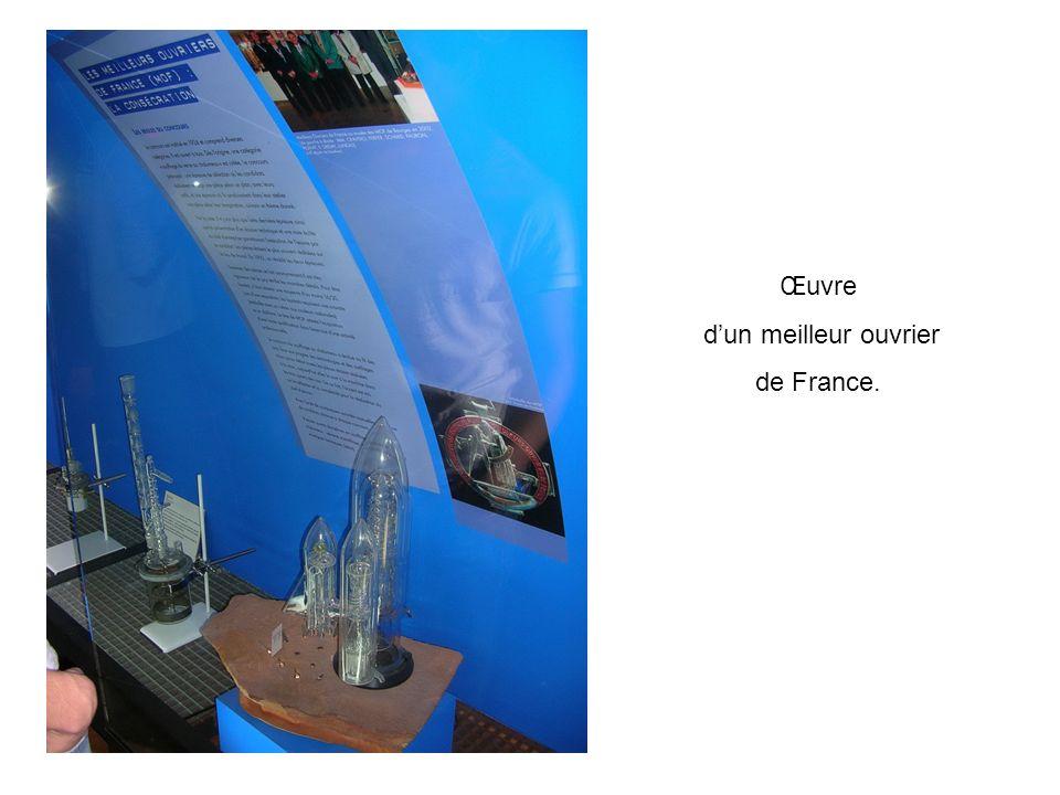 Œuvre dun meilleur ouvrier de France.