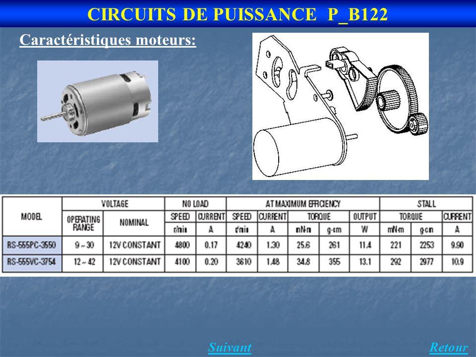 4 CIRCUITS DE PUISSANCE P_B122 Caractéristiques moteurs: SuivantRetour
