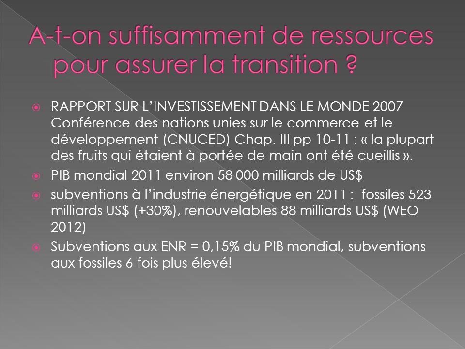 RAPPORT SUR LINVESTISSEMENT DANS LE MONDE 2007 Conférence des nations unies sur le commerce et le développement (CNUCED) Chap. III pp 10-11 : « la plu