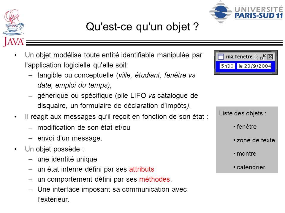 Le source complet dune application import java.util.*; import javax.swing.*; /* Descriptif de la classe.