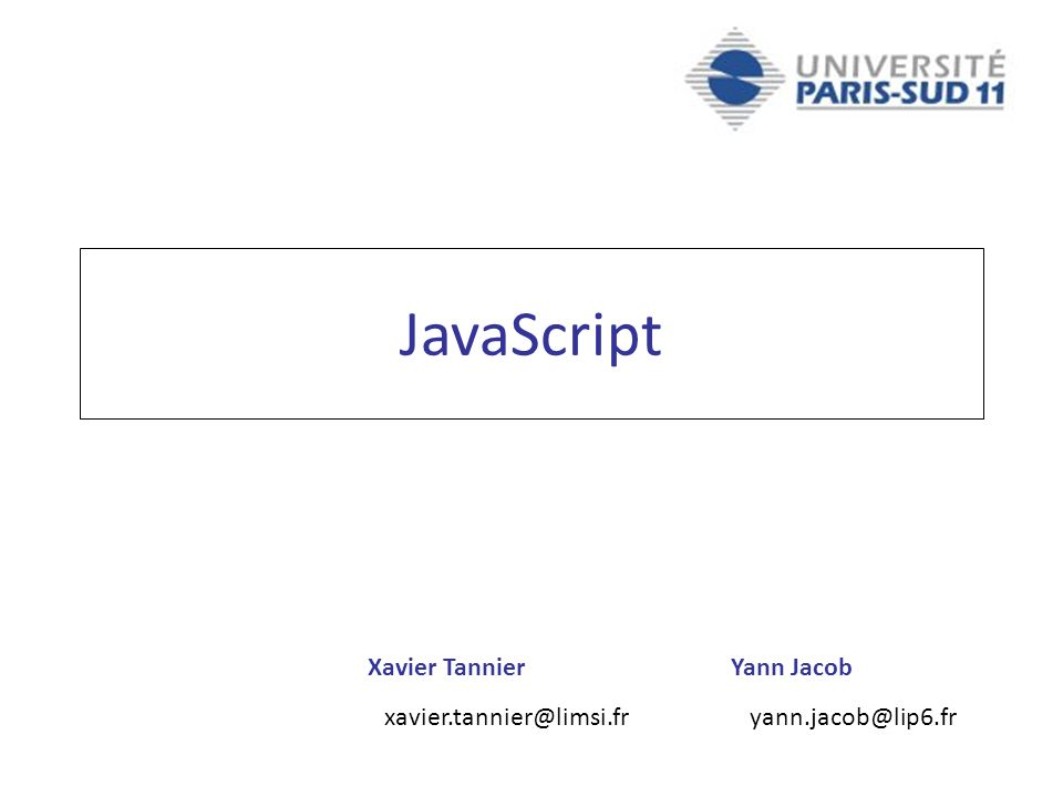 Xavier Tannier xavier.tannier@limsi.fr Yann Jacob yann.jacob@lip6.fr JavaScript