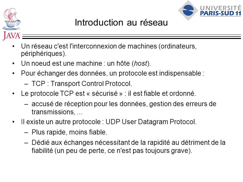 Introduction au réseau Un réseau c'est l'interconnexion de machines (ordinateurs, périphériques). Un noeud est une machine : un hôte (host). Pour écha