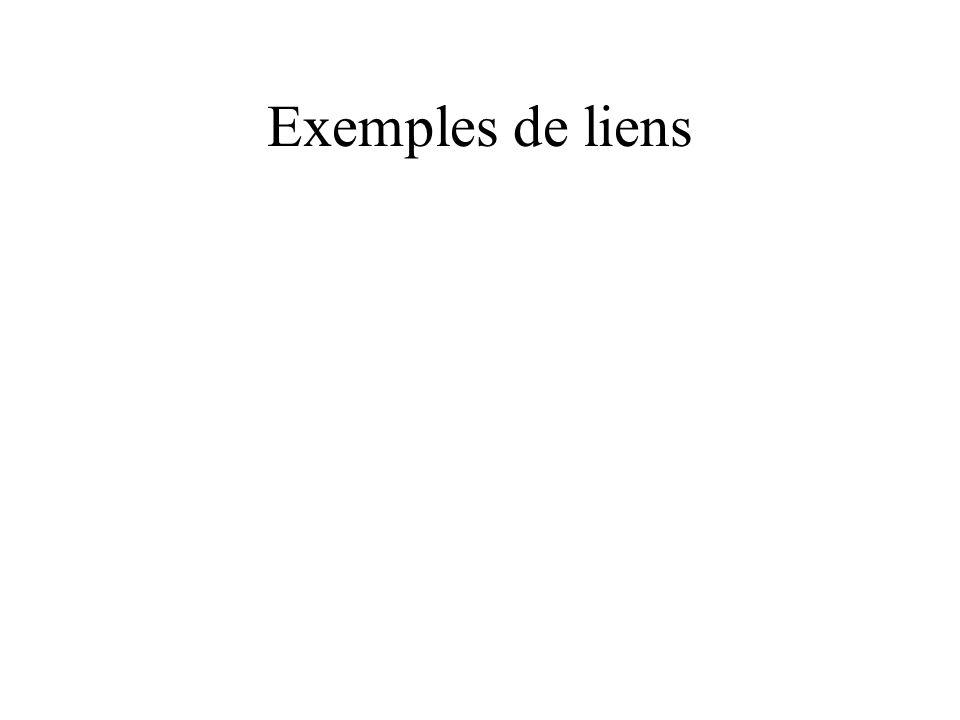 Exemples de liens